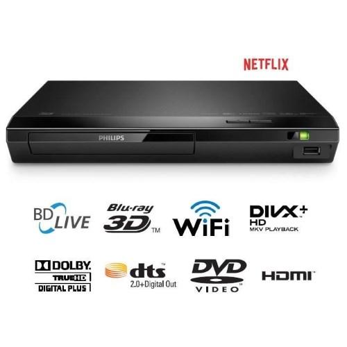 PHILIPS BDP2385 Lecteur blu-ray 3D DVD WiFi